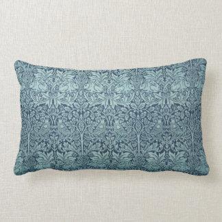 Vintage Textile Pattern Brer Rabbit William Morris Lumbar Cushion