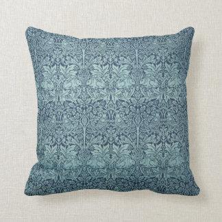 Vintage Textile Pattern Brer Rabbit William Morris Throw Pillow
