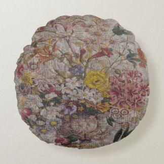 """Vintage Textiles Round Throw Pillow (16"""")"""