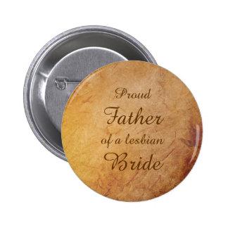 Vintage Texture Lesbian Bride's Father Pin