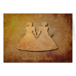 Vintage Texture Wedding Card for Lesbians