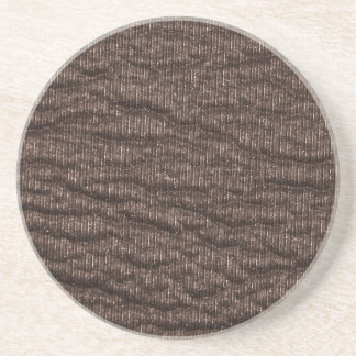 Vintage Textured Brown Leather Coaster