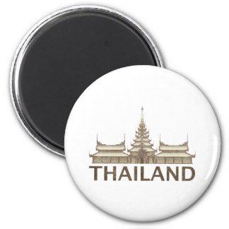Vintage Thailand 6 Cm Round Magnet