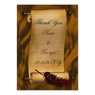 vintage Thank You Card 13 Cm X 18 Cm Invitation Card