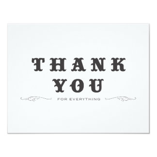 Vintage Thank You Double-Sided Invite