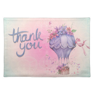 Vintage Thank You Hot Air Balloon Placemat