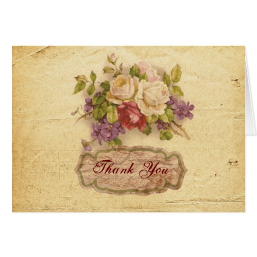 Vintage Thank You Note Cards   Zazzle
