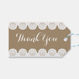 Vintage Thank You Red Heart Floral Swirl Wedding