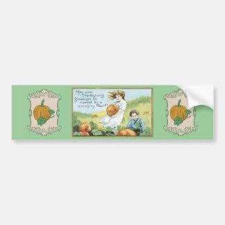 vintage Thanksgiving bumper sticker