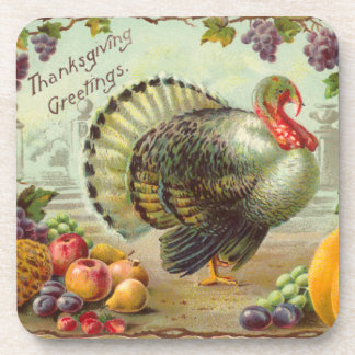 Vintage Thanksgiving Cork Coaster