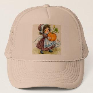 Vintage Thanksgiving Day Girl Trucker Hat