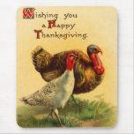 Vintage Thanksgiving Day Turkey Mousepad