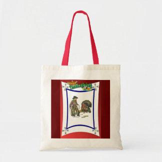 Vintage Thanksgiving design Tote Bag
