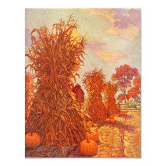 Vintage Thanksgiving Fall Corn Sheaves INVITATIONS