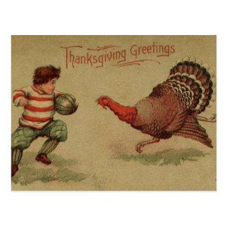 Vintage Thanksgiving Football and Turkey Postcards