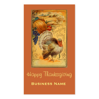 Vintage Thanksgiving Greeting Pack Of Standard Business Cards