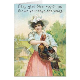 Vintage Thanksgiving Greetings Card