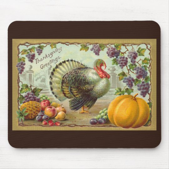 Vintage Thanksgiving Greetings Mousepad