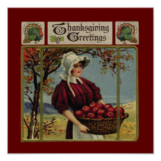 Vintage Thanksgiving Greetings Posters