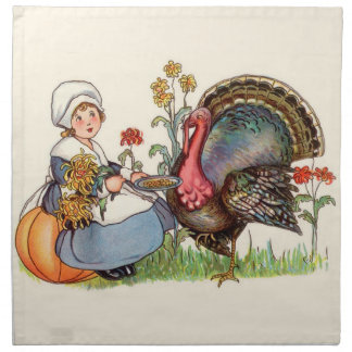 Vintage Thanksgiving Napkin