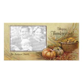 Vintage Thanksgiving photo card