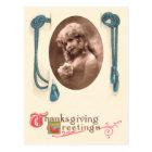 Vintage Thanksgiving Photo Postcard