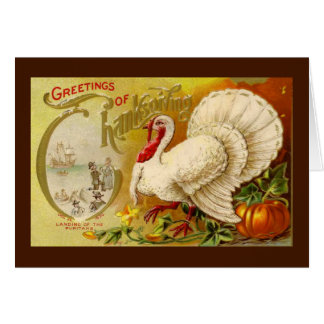 Vintage Thanksgiving Turkey Card
