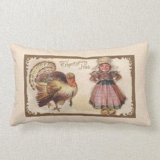 Vintage Thanksgiving Turkey Lumbar Cushion