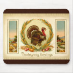 Vintage Thanksgiving Turkey Mousepad