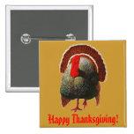 Vintage Thanksgiving Turkey Pinback Button