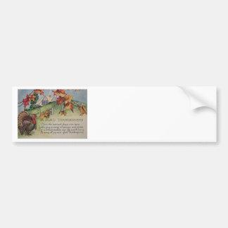 Vintage Thanksgiving - Turkey & Verse Bumper Sticker
