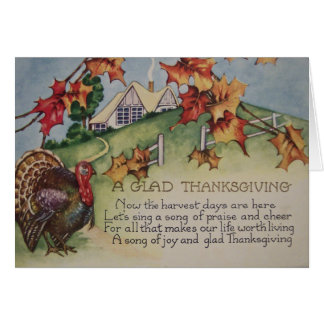 Vintage Thanksgiving - Turkey Verse Card