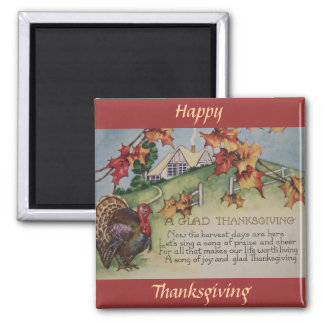 Vintage Thanksgiving - Turkey & Verse Magnet