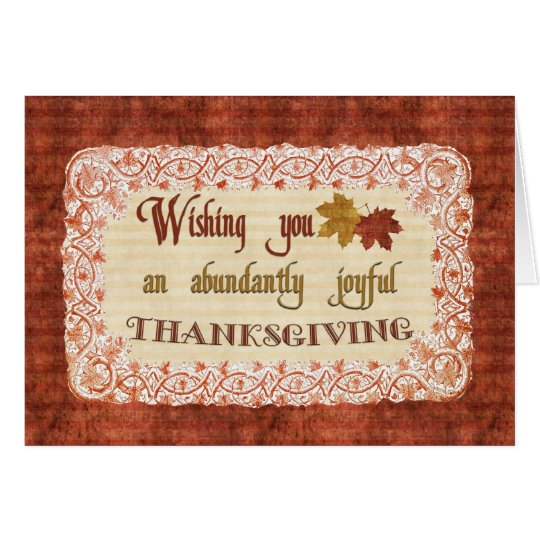 Vintage Thanksgiving Wishes Card