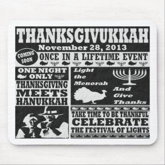 Vintage  Thanksgivukkah Mouse Pad