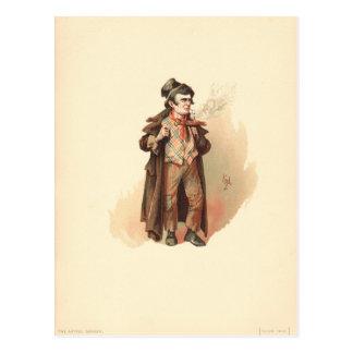 Vintage The Artful Dodger Oliver Twist Postcard