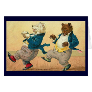 Vintage - The Dancing Bears Card