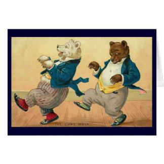 Vintage - The Dancing Bears Greeting Card