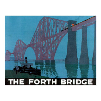 Vintage The Forth Bridge Postcard