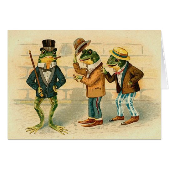 Vintage - The Frog Friends Card