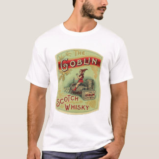 "Vintage ""The Goblin "" Scotch Whiskey Label Shirt"