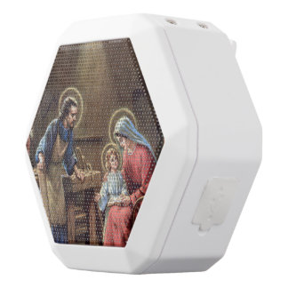 vintage the holy family, Jesus christ, Josef,Mary, White Boombot Rex Bluetooth Speaker