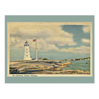 Vintage The Lighthouse, Nassau Bahamas Postcard