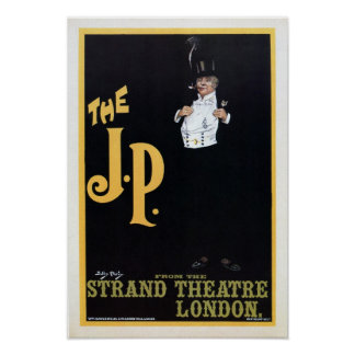 Vintage The Strand London The J.P. theatre play ad Poster