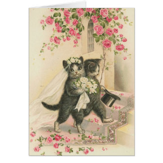 Vintage - The Wedding Cats Card