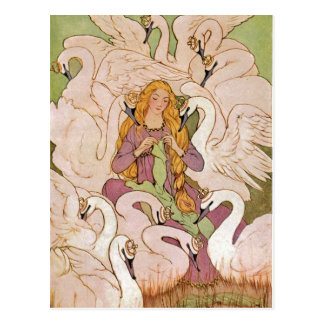 Vintage - The Wild Swans, Postcard