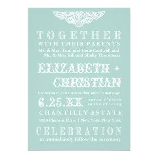 Vintage Theater Bill Wedding Invitation-ice blue 13 Cm X 18 Cm Invitation Card