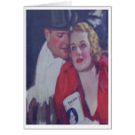 Vintage Theatre Date Greeting Card