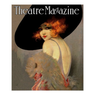 vintage theatre magazine cover poster