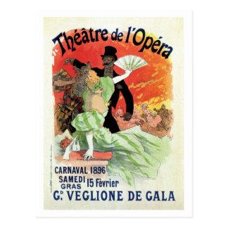 Vintage Theatre Opera Carnival 1896 Postcard